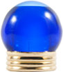 TAPA 15MM BOLA COBALT BLUE CAP W/SHINY GLD MTL RING
